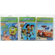 LEAPSTER Learning Games: Cars Supercharged + SpongeBob SquarePants Saves the Day + Toy Story 3 - Value Pack