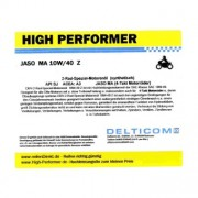High Performer 10W-40 Motorcycle (4-Takt) Engine oil 1 Litre Can
