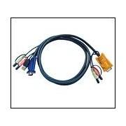 ATEN 2L-5302U :: KVM кабел, HD15 M + USB type A M + 2 Audio Plugs >> SHDB15 M + 2 Audio Plugs, 1.8 м
