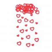 Confetti metalice inimioare rosii