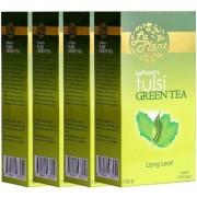 LaPlant Tulsi Green Tea Long Leaf - 400 gm (Pack of 4)