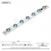 7.2w High CRI Back-lit LED Linear Module