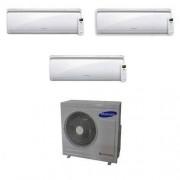 Samsung Condizionatore Samsung New Style Trial Split Inverter 7000+7000+7000 7+7+7 Btu Aj052mcj3eh/eu