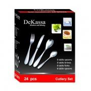 Set tacamuri Inox 24 de piese DeKassa DK3911
