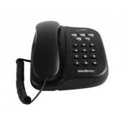 Telefone com Fio de Mesa ou Parede 5 Funções TC500 Preto Intelbras