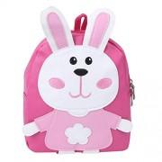 Zerodis Bolso de Escuela para niños Cute Cartoon Kindergarten PU Mochila Moda Bolsos de Hombro Regalo para niñas Niños(Rosado)