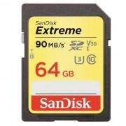 SanDisk 64GB ExtremeV30 SDSDXVE-064G UHS-I de 90 mb / s tarjeta SDHC