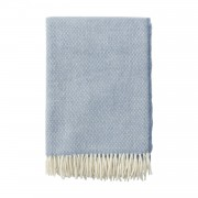 Klippan Yllefabrik Flow ullpläd premium bluestone, klippan yllefabrik