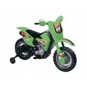 Motocicleta electrica Enduro Motocross 6V verde