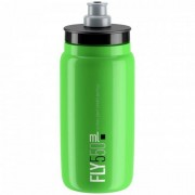 Elite Cykelflaska Elite FLY Green Svart logo 550 ml