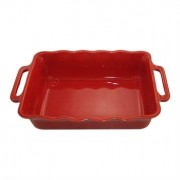 Appolia Plat rectangle céramique cerise 37,5 cm Appolia