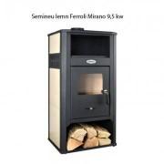 Semineu lemn Ferroli Mirano 9,5 kw