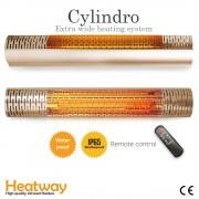 Luxway Terrassvärmare HeatWay Cylindro 2000W Champagne