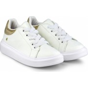 Pantofi Fete Bibi Glam Albi/Gold 33 EU