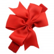 ELENXS infantil de los bebés del arco de la venda de la flor de los accesorios del pelo elástico magnífico encantador suave Rojo Práctica