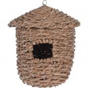 Merkloos 1x Zeegras vogelhuisjes/vogelhuizen 30 cm