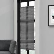 Klemmfix Plissee - 65 x 100 cm - šedá - ochrana proti slunci a světlu - neprůhledné - bez otvorů