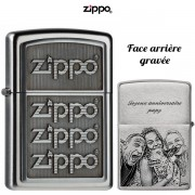 Briquet ZIPPO gravé et personnalisé Logos 3D