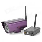 Kit transmisor de audio y video inalambrico con camara / antenas - Negro + Purpura