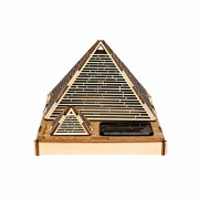 """Cool Funny DIY Assembly & Colored Painting 3D Wooden """"Great Pyramid of Khufu"""" Building Model Educational Toy with 5-Colors Changing LED Solar Lights"""