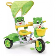 OH BABY HUD SEAT Tricycle with Cycle with Canopy COLOR (GREEN)SE-TC-115
