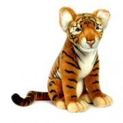 Hansa Tiger Cub Collectible Plush, Brown, 17""