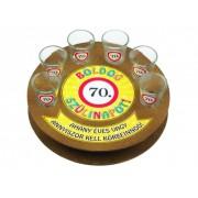 Boldog szülinapot 70-es 6db 1,5cl FT008 - Tréfás Pálinkás kör pohár szett