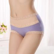 V&V Dámské bavlněné kalhotky s vysokým pasem (světle fialová barva) - V&V