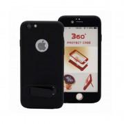 Husa Iphone 7 Full Cover 360 cu stand si placuta magnetica, Negru
