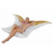 Felfújható angyalszárny matrac arany-fehér #674
