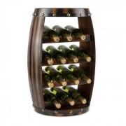 KLARSTEIN Barrica, suport din lemn pentru vinuri, 14 sticle, brad