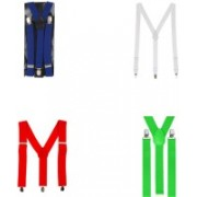 Eccellente Y- Back Suspenders for Men, Boys, Girls(Multicolor)