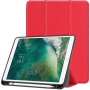 Apple iPad Air / Air 2 hoesje - Smart Tri-Fold Case met Pen Houder - rood