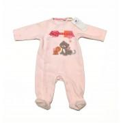 Noukies Pyjama velours rose Iris & Babette Noukie's 1- mois