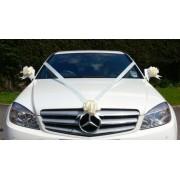 IVORY WEDDING CAR RIBBON KIT