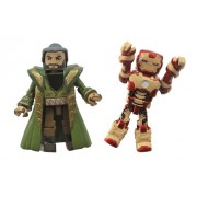 Diamond Select Toys Series 49 Marvel Minimates Iron Man 3 Mark 47 and The Mandarin Action Figure