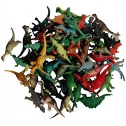 "Assorted Dinosaur Toys Collection (72 Mini Vinyl Dinosaurs, 2 1/2"") by Wilde Tyke (TM)"