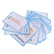 Homyl 36 Pieces First Words Flash Cards Set Educational Learning Pocket Card Activity Fun Cards, Body Parts