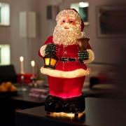 Friendly fibre optic Santa Claus, 41.5 cm