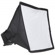 ER El Difusor Softbox 20 X 30cm Plegable Universal Luz De Flash -Blanco Y Negro