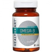 Healthviva O.m.e.g.a 3 1000mg (with 180mg EPA and 120mg DHA) Fish Oil Supplement-60 Softgels
