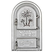 Usa semineu PALMIER G Silver, cu geam de protectie