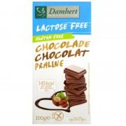 Tablette chocolat lait praliné sans gluten sans lactose Damhert 100 g
