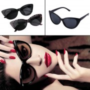 EY Women Ladies Cat Eye Retro Vintage Style Rockabilly Sunglasses Eye Glasses Negro Y Gris Del Marco De Cristal