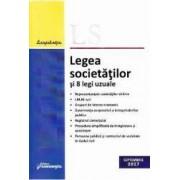 Legea societatilor si 8 legi uzuale Septembrie 2017