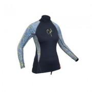 Uv tröja dam långärmad svart rashguard från Gul (Storlek: 42)