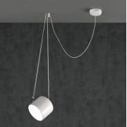 Paco lampara colgante metal blanco o negro mate