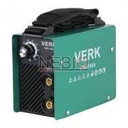 Aparat de sudura Verk VWI-100A, Electrod 1.0 - 2.5 mm, 4 Kg, Accesorii incluse, Verde