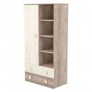 Timba Viki szekrény 1 ajtós 2 fiókos krém-fűz