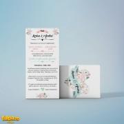 Invitaţie nuntă cu motive florale (model 2)
